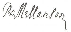 Signature de Pierre Mellanson