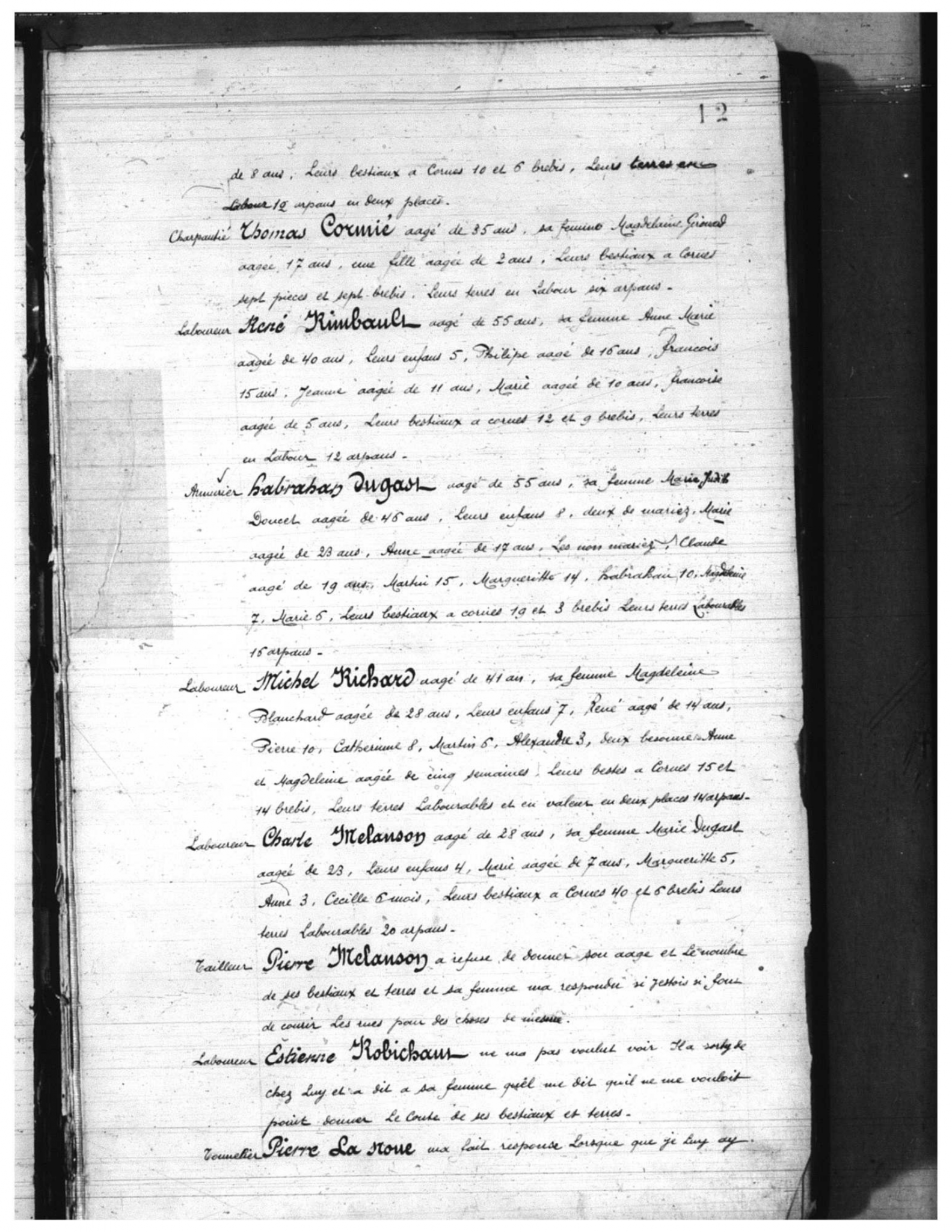 Recensement 1671 Acadie p12