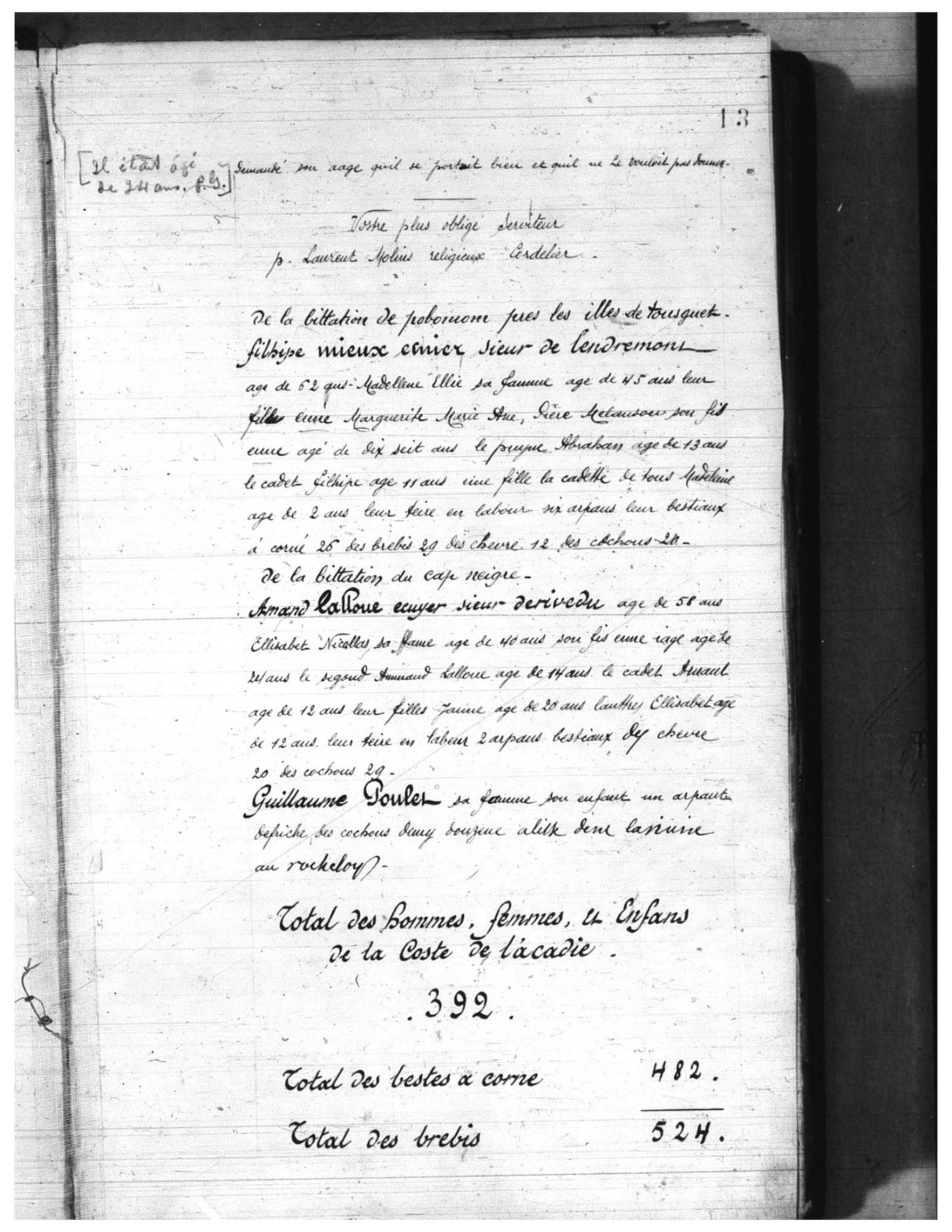 Recensement 1671 Acadie p13