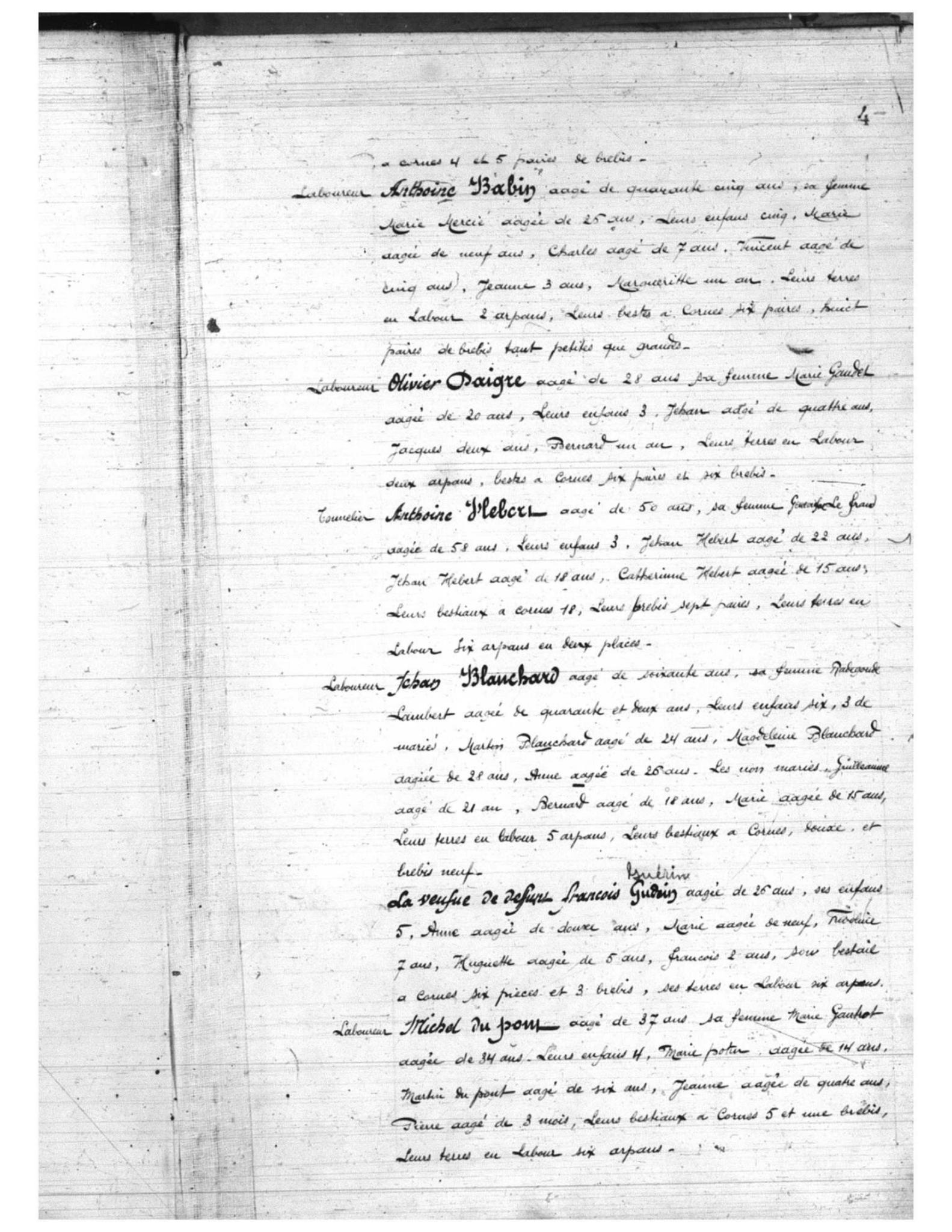 Recensement 1671 Acadie p4